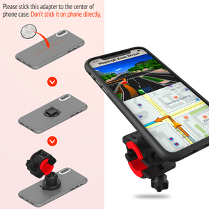 Image 5 - Bicycle Phone Holder For 3.5 6.2 inch Smart phone Adjustable Support GPS Bike Phone Stand Mount Bracket