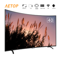Free shipping 40 inch tv smart led curved screen tv android hd with wifi
