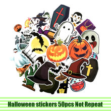 50 stuks Halloween Stickers paster anime film decals scrapbooking diy telefoon laptop waterdichte home decoratie gift(China)