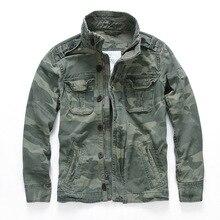 Military Denim Jacket Men Retro Camo Multi-pockets Mens Cowboy Jackets Fashion Cargo Jeans Coats Jaqueta Masculina Size S-2XL