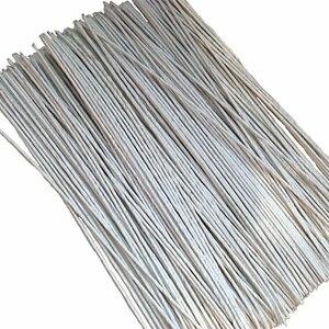 100pcs 20# Flower Stub Stems Paper Floral Tape Iron Wire Artificial Flower Stub Stems Craft Decor Soap Holding Flowers Stem(China)