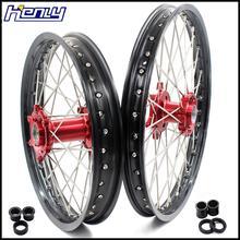 21/18 SPOKED ENDURO колеса диски набор для Beta RR 2013- красная алюминиевая ступица