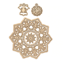Christmas Bell Snowflake Ornament Hollowed Flower Frame Metal Cutting Dies for Scrapbooking DIY Paper Card Decoration New 2019