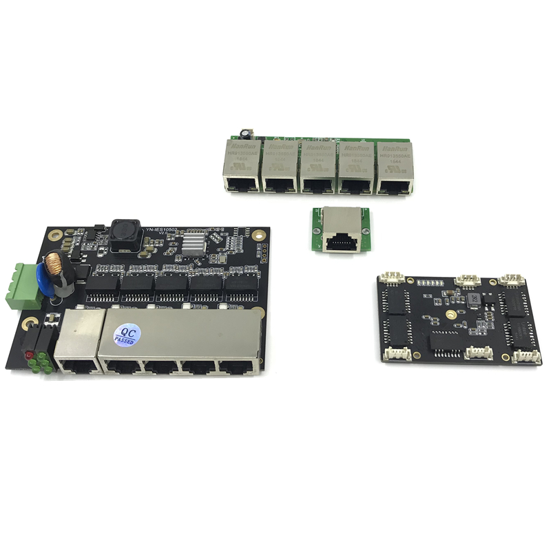 Unmanaged 3/5port 10/100M Industrial Ethernet Switch Module  PCBA Board OEM Auto-sensing Ports PCBA Board OEM Motherboard