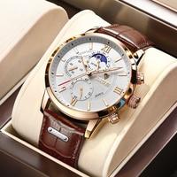 LIGE-reloj deportivo de cuarzo para hombre, cronógrafo de pulsera, estilo militar, informal, resistente al agua, con caja, 2021