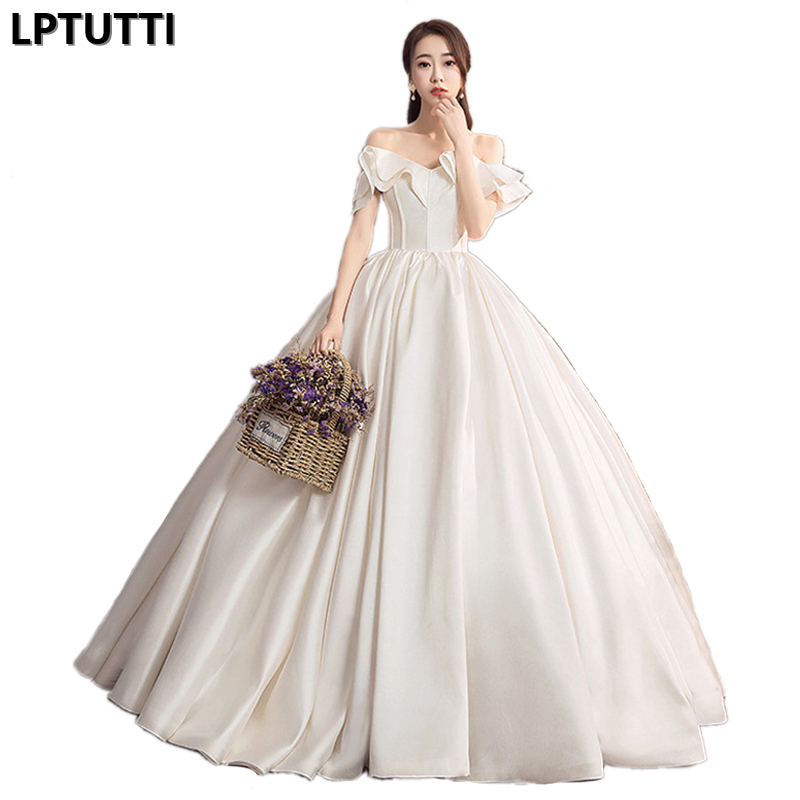 LPTUTTI Sexy New Plus Size Princess Bridal Marriage Gown Bride Simple Party Events Long Luxury Wedding Dresses