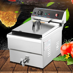 Fryer Commercial 304 Stainless Steel Electric Frying Pan Potato Machine Fries Fritter Fritter Fry Electric Fryer DJD-10