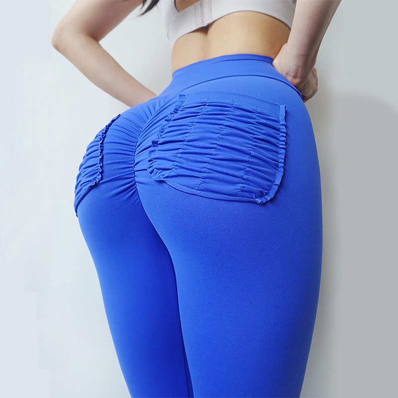 Women High Waist Pockets Leggings Sexy Fitness Push Up Leggings Women Breathable Candy Legging