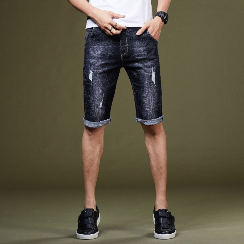 2019 Summer New Style Fashion Small Business Men's Trousers Pencil Pants Pants Youth Jeans Shorts