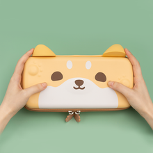 Geekshare Cute Dog Ears Yellow Storage Bag Protables For Nintend Switch Strap Pharaoh Travel Carrying Case for Nintendo Switch