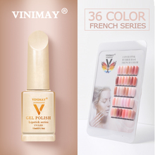 VINIMAY French Nail Art Gel Nail Polish UV Soak Off Gelpolish Gel Polish Color Primer Manicure Nails Gel Lacque Salon 15ml