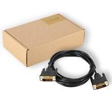 LESHP черный 2/3 М прочный Портативный высокое Разрешение позолоченная тонкая DVI Single Link цифровой видео кабель монитора