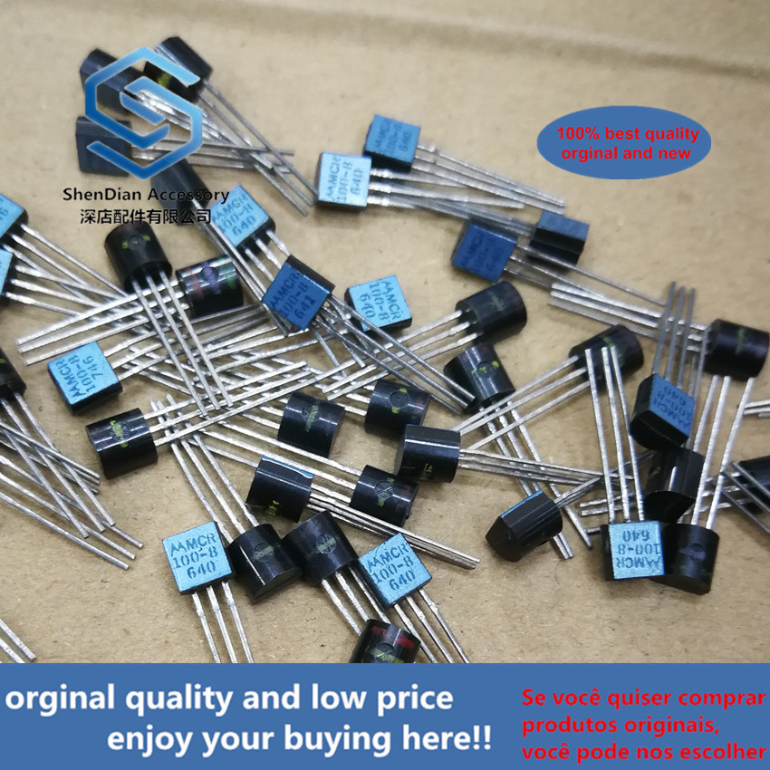 10pcs 100% New And Orginal MCR100-8 100-8 TO-92  PLASTIC SILICON CONTROLLED RECTIFIERS(PNPN Devices Designed For High V In Stock