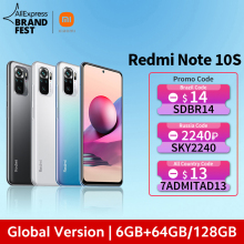 [World Premiere] Global Version Xiaomi Redmi Note 10S Smartphone 64MP Quad Camera Helio G95 6.43″ AMOLED DotDisplay 5000mAh 33W