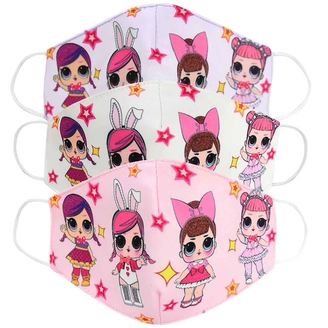 LOL Surprise Doll Toys Half Muffle Face Mask Kids Lol Dolls Cotton Dustproof Cartoon Mouth Masks Breathable Mask
