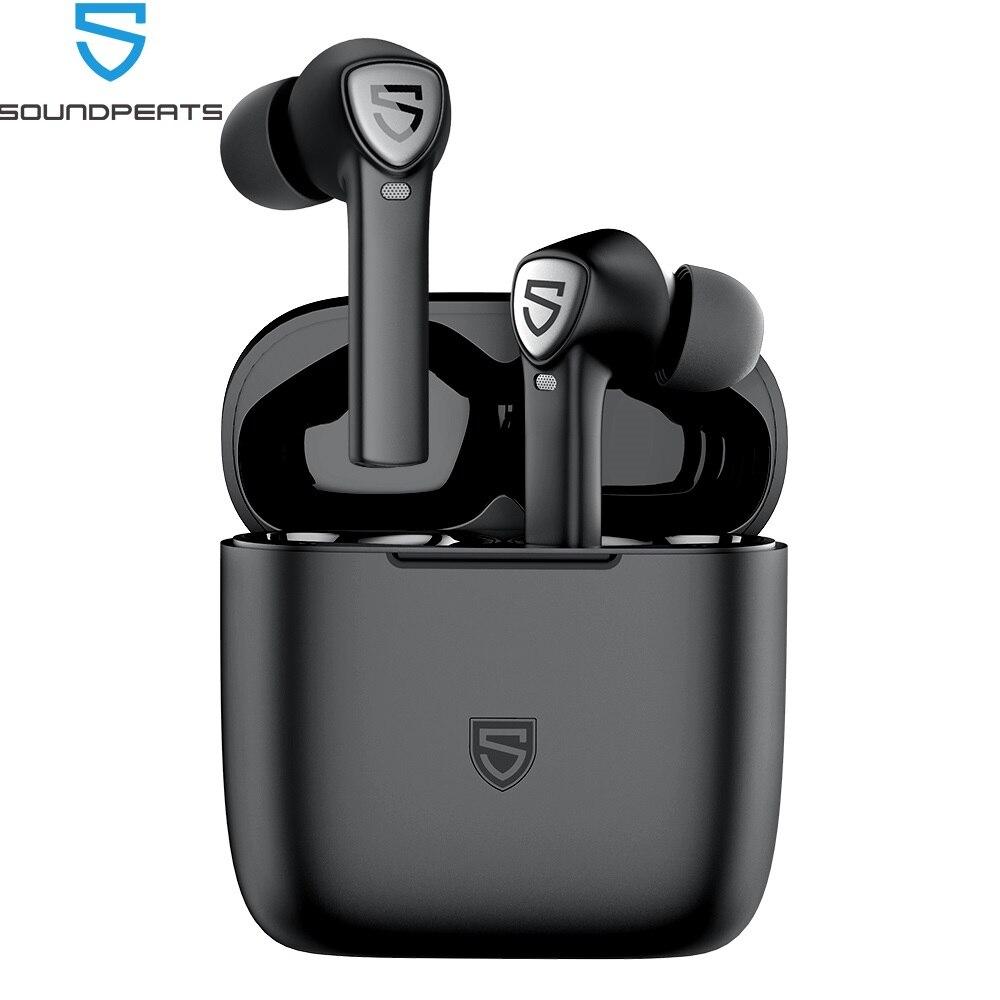 Soundpeats truecapsule2 verdadeiro fones de ouvido sem fio com 4 microfones, detecção in-ear, cvc 8.0, modo único/twin bluetooth 5.0 eardphones