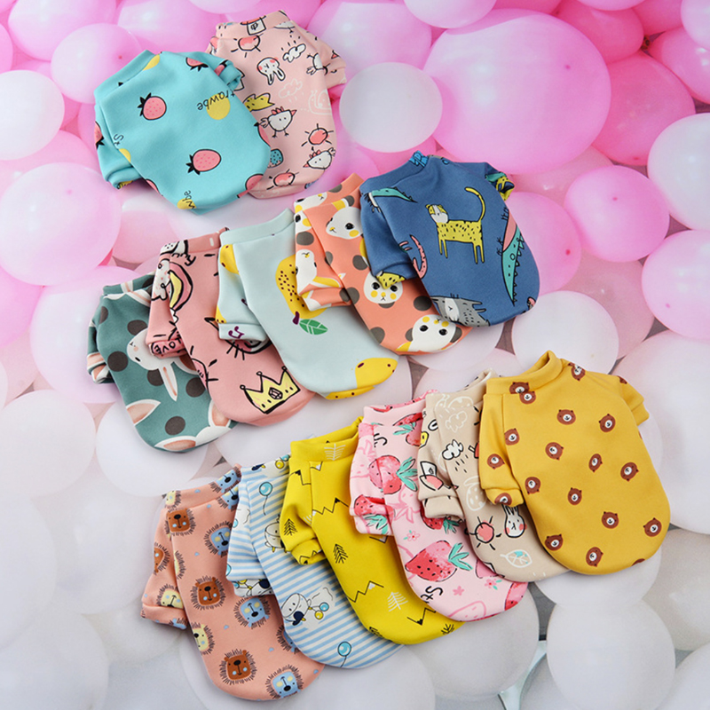 Cute Print Small Dog Hoodie Coat Winter Warm Pet Clothes for Chihuahua Shih Tzu Sweatshirt Puppy Cat Pullover Dogs Pets Clothing 1