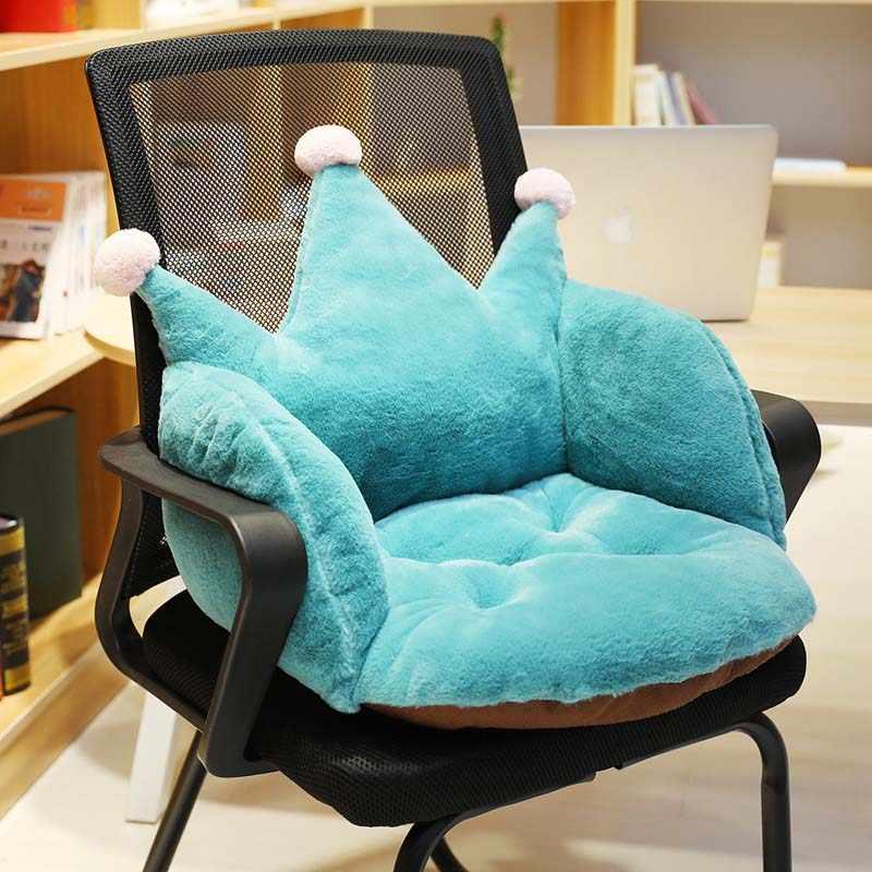 Sillas gruesas asiento colchón asiento hogar muebles Protector funda diseño corona Oficina sillón almohadas