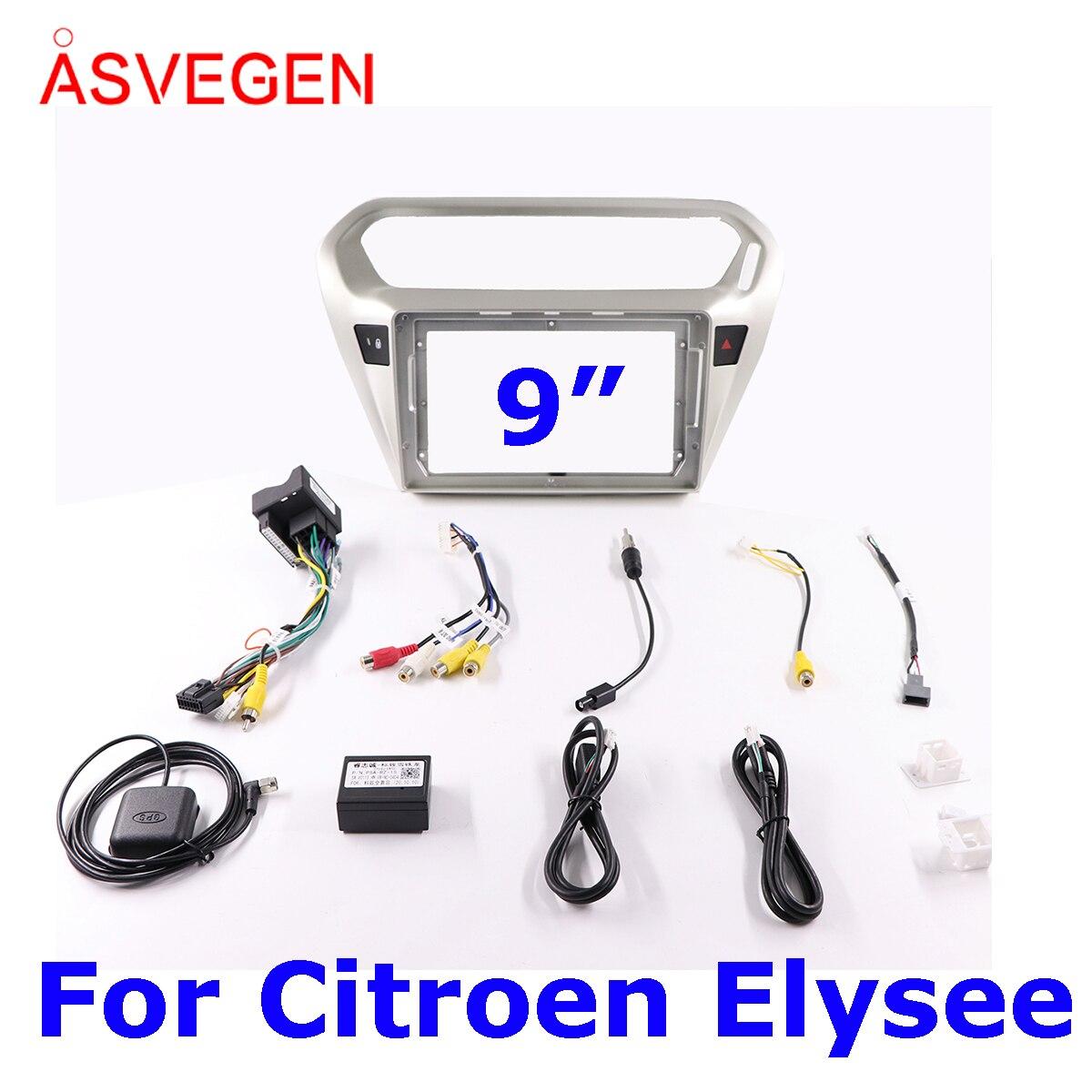 Asvegen Car Radio Fascia Frame For Citroen Elysee Car Dvd Frame Install Panel Dash Mount Installation Dashboard