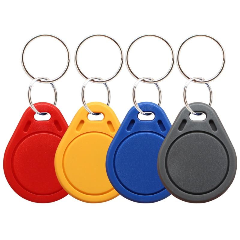 10 шт. RFID идентификационными торговая марка Mifare 13,56 МГц 14443A M1 S50 небольшой умная ИС (интеграционная схема бирка кольца для ключей брелок марке...
