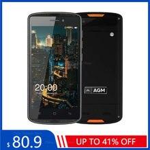 AGM X1 Mini 4G LTE teléfono inteligente 4000mAh IP68 impermeable a prueba de golpes a prueba de Android 6,0 de 5,0