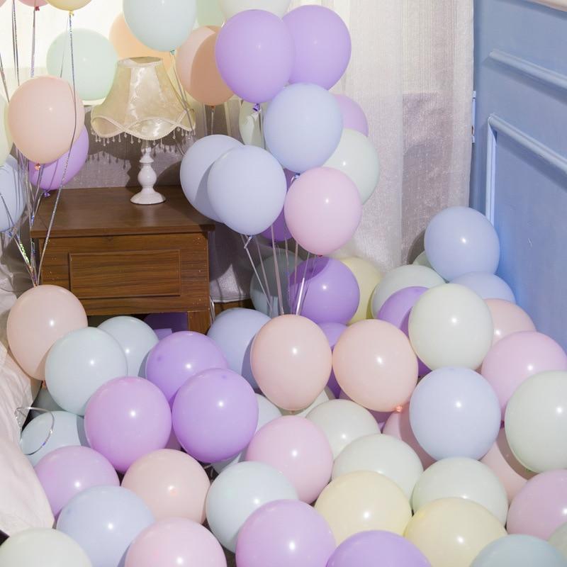 10 Pcs/lot 2.2g 10 Inch Round Latex Balloons Macaron Balloon Wedding Birthday Party Decoration Supplies Wall Decoration