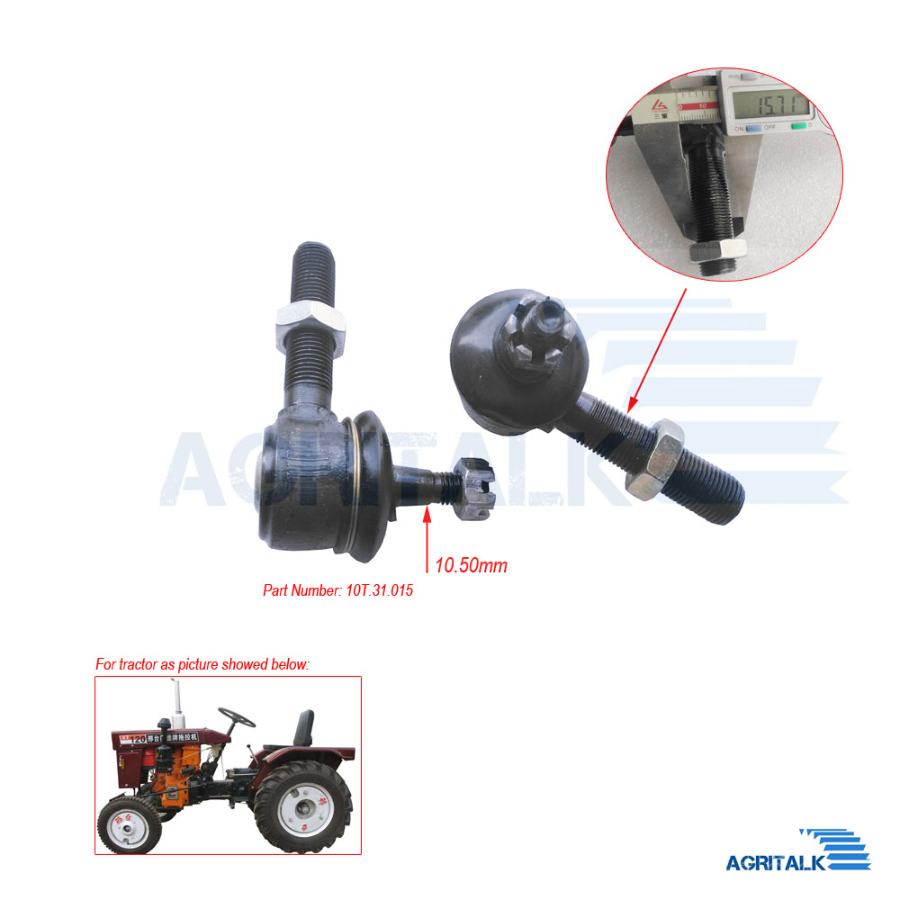 Set Of Steering Joints For Xingtai Tractor  XT-120 With Engine 190-12, Part Number:  10T.31.015+10T.31.016