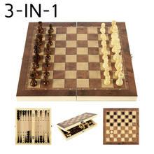 Qualidade superior de madeira quente conjunto xadrez magnético dobrável xadrez de madeira maciça peças magnéticas jogos de tabuleiro entretenimento crianças presentes
