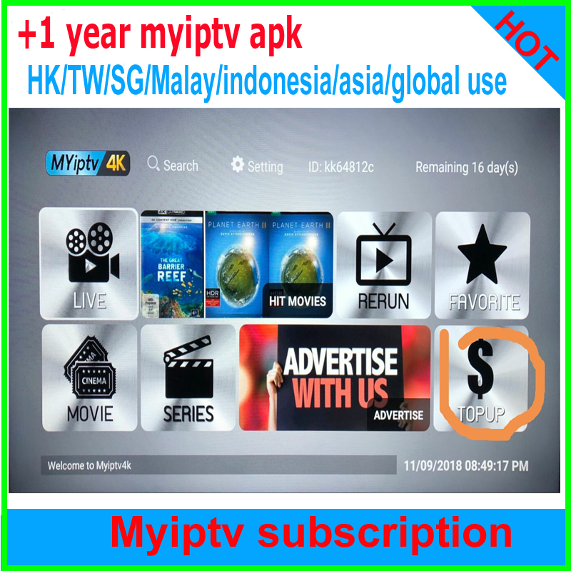 Renew Myiptv Yearly Subscription Myiptv4K For Malaysia Singapore Thailand Australia New Zealand Global Use
