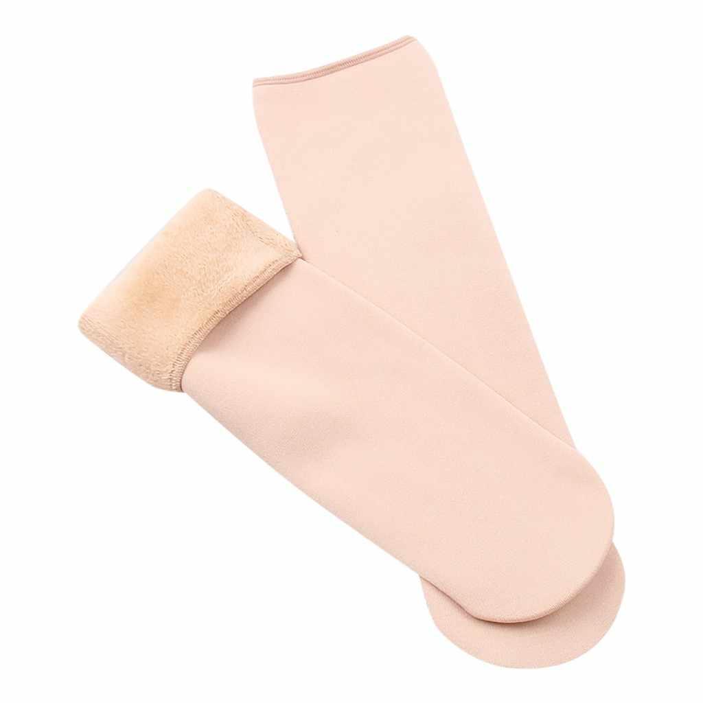 2020 New Winter Women Seamless Velvet Boots Floor Sleeping Socks Wool Thicken #yc104