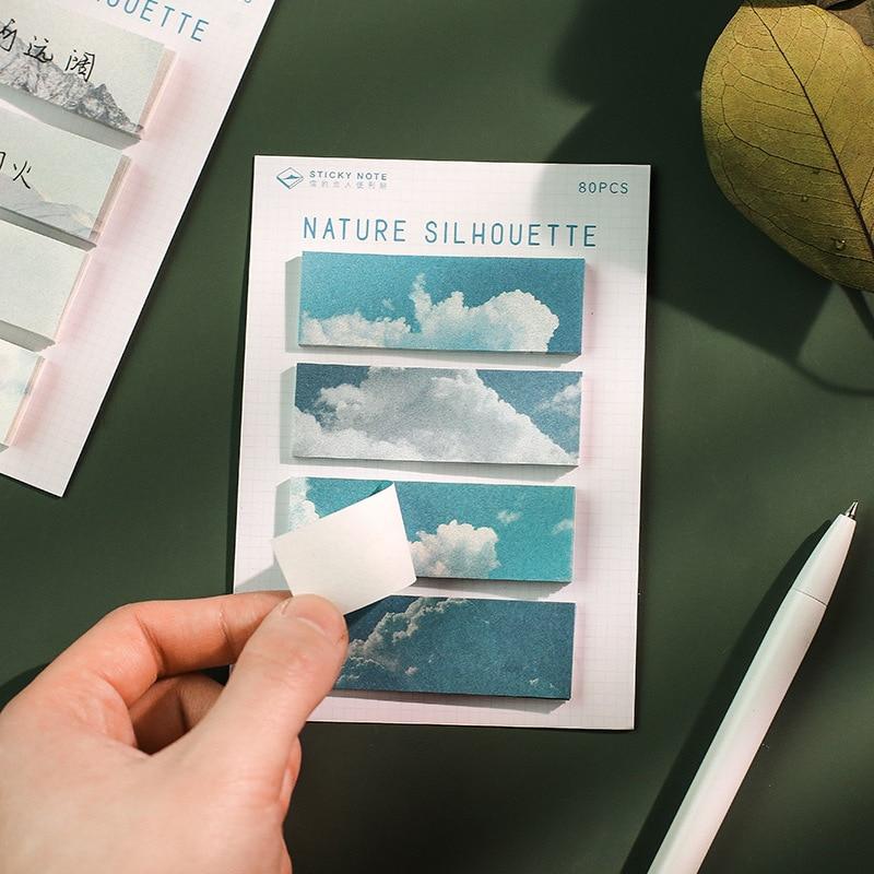 Memorandum o prirodi silueta N puta ljepljive bilješke školski - Bilježnice i dnevnici - Foto 3