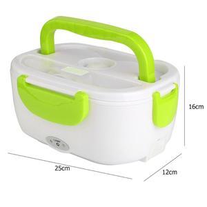 Image 3 - 2 in 1 Tragbare Edelstahl Liner ABS Shell Elektrische Heizung Lunch Box Lebensmittel Heizung Container Küche Geschirr