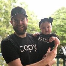 Baba ve bana gömlek babalar günü gömlek seti kopya ve macun baba oğul gömlek baba oğlu/kızı baba's Little kız gömlek