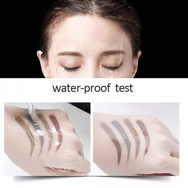 5 Colors Microblading Tattoo Eyebrow Pencil Waterproof Fork Tip 4 Head Fine Sketch Liquid Eyebrow Enhancer Dye Tint Pen TSLM2 4