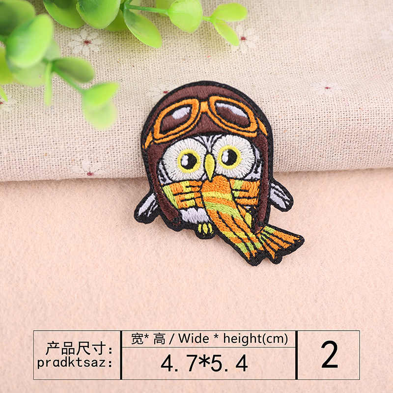 자수 헝겊 스티커 패치 스티커 동물 조류 자수 장 applique 다림질 의류 의류 바느질 용품
