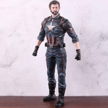 Marvel Avengers Captain America Marvel Endgame Captain America Action Figure Marvel PVC Collectible Model Toy Gift 30cm фото