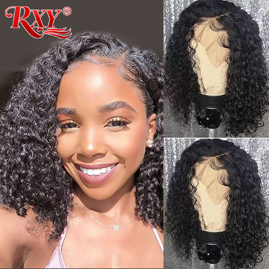 RXY Deep Wave Lace Front Wig Glueless Lace Front Human Hair Wigs For Women 13x4 Peruvian Wig Huma Hair Pre Plucked Remy Hair