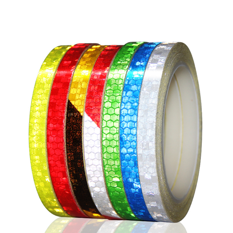 Bicycle Stickers Reflective Stickers Strip Bicycle Reflective Adhesive Tape Decals Stickers Bike Cycling Bicycle Accessories