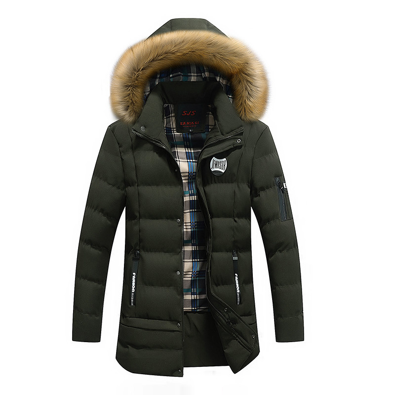 New Men's   Parka   Warm Winter Jacket Men Brand Clothing Thick Coat Male High Quality Hooded   Parkas   Male'S Clothing