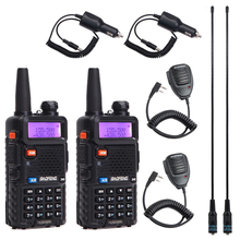 2 pièces BaoFeng UV 5R talkie walkie VHF/UHF136 174Mhz et 400 520Mhz double bande bidirectionnelle radio Baofeng uv 5r Portable talkie walkie uv5r