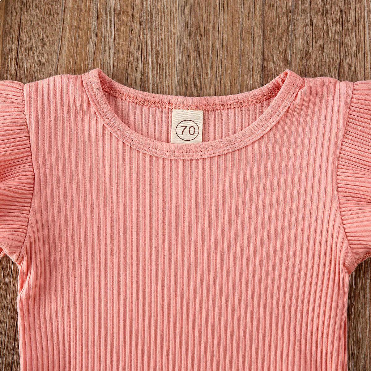 2020 Baby Summer Clothing Infant Newborn Baby Girl Ruffled Ribbed Bodysuit Floral Shorts Headband 3Pcs Set