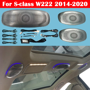 Image 1 - 7/64 color LED Lamp For Mercedes Benz S class W222 Ambient Light Auto Synchronous Original Audio Atmosphere Car Ceiling Speaker