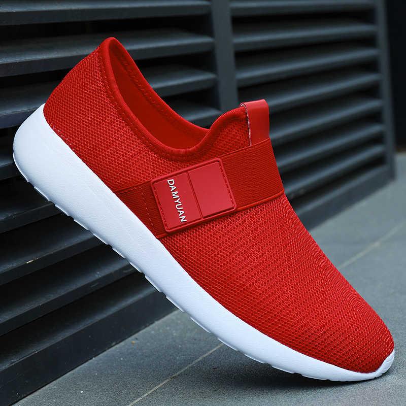 Damyuan 2019 yeni moda sonbahar ayakkabı erkek Flyweather Comfortables tutmak sıcak olmayan deri rahat hafif koşu kış ayakkabı