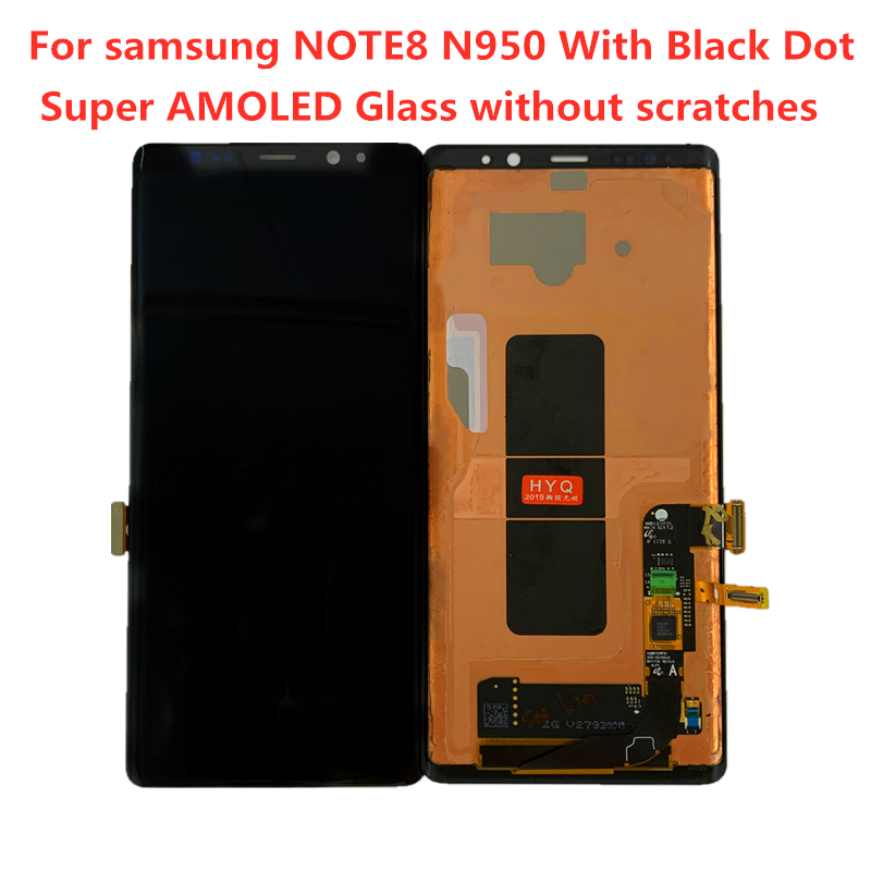 Original AMOLED Display For SAMSUNG Galaxy NOTE8 LCD N950U N950I N950F Display Touch Screen Assembly With Black Dots