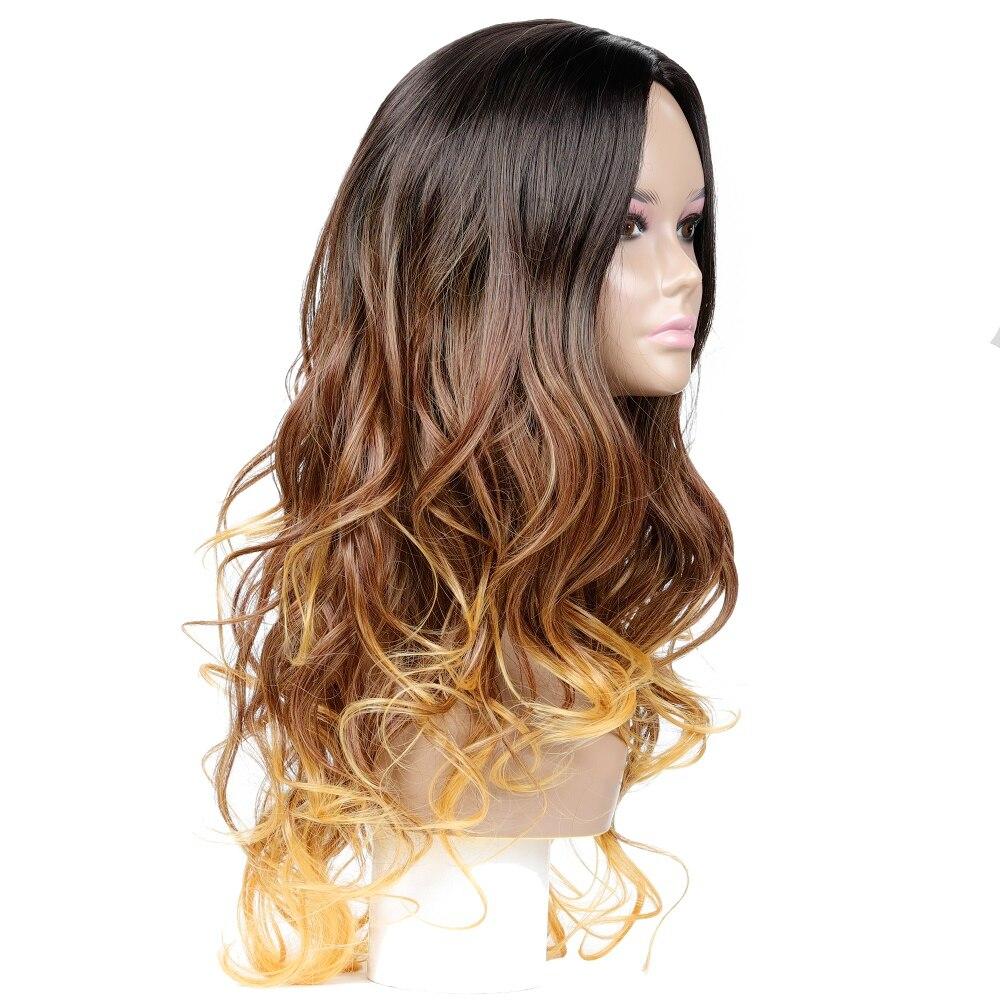 cabelo gluless resistente ao calor peruca sintética