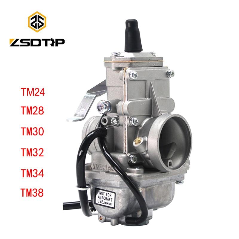Карбюратор ZSDTRP для Mikuni, КАРБЮРАТОР vergazer Carb TM24 TM28 TM30 TM34 TM32 TM38, карбюратор с плоской направляющей, карбюратор для карбюратора 42-6100
