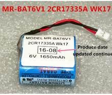10PCS Original Novo MR-BAT6V1 2CR17335A WK17 6V PLC Bateria De Lítio com plugs/conectores Frete Grátis