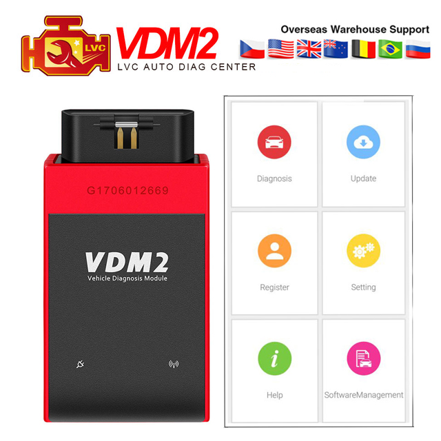 UCANDAS VDM2 Wifi Bluetooth full systems Auto OBD2 Diagnostic tool Scanner Newest V3.9 Wifi On Android VDM II VDM 2 code rader on