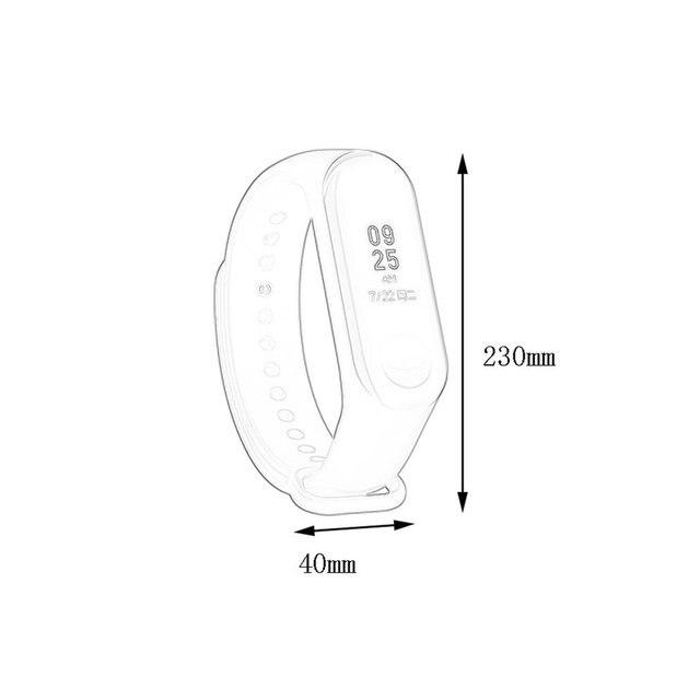 Bracelet for Xiaomi Mi Band 3 4 Sport Strap watch Silicone wrist strap For xiaomi mi band 3 4 bracelet Miband 4 3 Strap