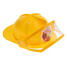 Halloween Fire Fighters Cosplay Helmet Fireman Chief Hat Kids Toy Role Play